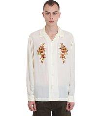maharishi shirt in beige cotton