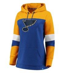 majestic st. louis blues women's colorblocked fleece sweatshirt
