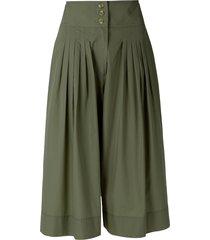 nk flare midi shorts - green