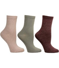 steve madden women's 3 pack super soft crew socks, online only