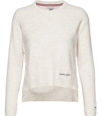 tjw side stitch detail sweater stickad tröja creme tommy jeans