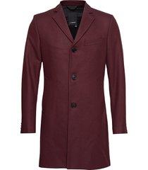 wolger-compact melton wollen jas lange jas rood j. lindeberg