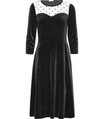 hermine dress knälång klänning svart ida sjöstedt