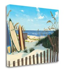 "tangletown fine art beach access by scott westmoreland giclee print on gallery wrap canvas, 22"" x 18"""