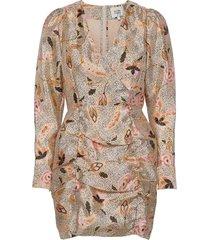 eske mini dress korte jurk multi/patroon second female