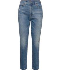 high rise distressed cigarette jeans jeans mom jeans blå gap
