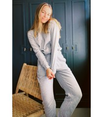 womens the real you sweater and joggers lounge set - light grey