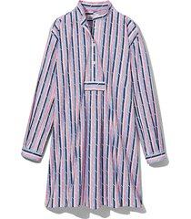 short sleep shirt blue and pink trio stripe