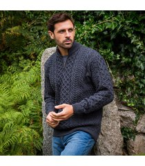 derby lagan aran sweater large