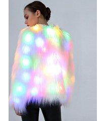 led fur coat stage costumes women costume led plus size 3xl nightclub christmas