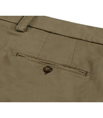 profuomo chino geverfd army groen stretch