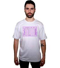 camiseta manga curta skate eterno arcade branco - kanui