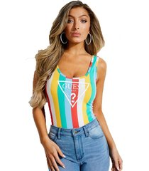 body sl rainbow stripe bodysuit multicolor guess