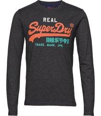 vl desert l/s tee t-shirts long-sleeved grå superdry