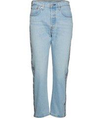 501 crop dibs w/ tape raka jeans blå levi´s women
