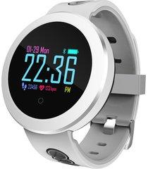 pantalla color circular pulsera inteligente impermeable reloj de frecu
