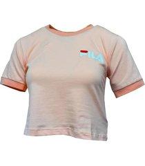 camiseta mujer fila t shirt dm cuello y puños