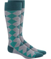 alfani men's diamond striped argyle socks, created for macy's
