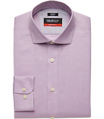 awearness kenneth cole awear-tech lavender slim fit dress shirt