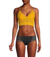 intimately free people women's crochet lace bralette - mango - size s