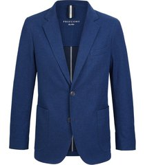 profuomo jacket knit structure mid blue
