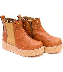 botineta marrón valentia calzados lola ecoliso