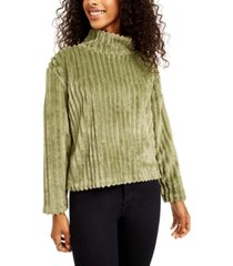planet gold juniors' cozy mock-neck ribbed top