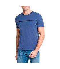 camiseta calvin klein masculina sash azul médio