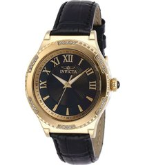 reloj invicta 28605 negro cuero dama