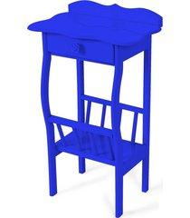 mesa lateral apoio sala revisteiro azul royal - azul - dafiti