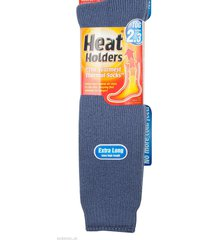 mens long 2.3 tog heat holders thermal socks 6-11 uk, 39-45 eur,7-12 us denim