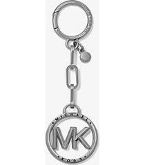 mk portachiavi con logo - rodio (nero) - michael kors