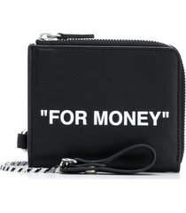 off-white quote card holder - black