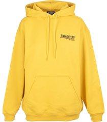 balenciaga man yellow medium fit political campaign hoodie