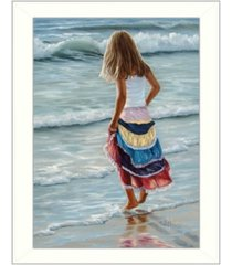 """trendy decor 4u the striped skirt by georgia janisse, printed wall art, ready to hang, white frame, 18"""" x 14"""""""