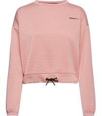 adv charge sweatshirt w sweat-shirt tröja rosa craft