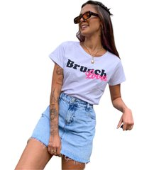 blusa in love t-shirt cafe da manha branca - branco - feminino - algodã£o - dafiti
