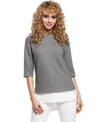blouse style s132 mouwloze top met ruches - grijs