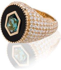 o thongthai 14kt yellow gold fancy cut tourmaline diamond ring