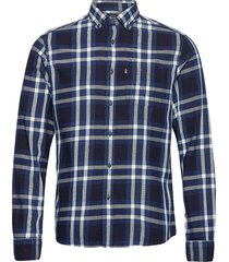 clive yarn dyed checked shirt overhemd casual blauw lexington clothing