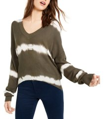 crave fame juniors' tie-dyed pullover sweater