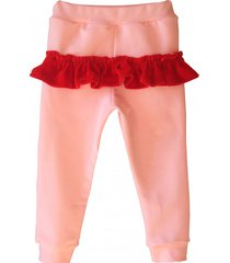 spodnie frill pink