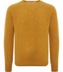 ymc suedehead crew neck jumper - yellow p8kaa-70