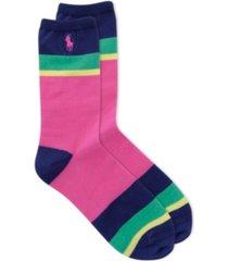 polo women's color block crew socks