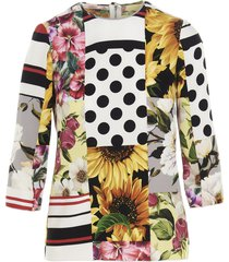 dolce & gabbana patchwork blouse