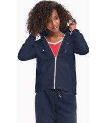 tommy hilfiger women's essential flag hoodie navy - xs