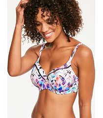 malundi underwire lightly padded balcony bikini top