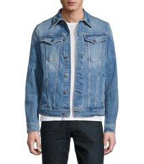 g-star raw men's slim-fit stretch denim jacket - sun faded wash - size m