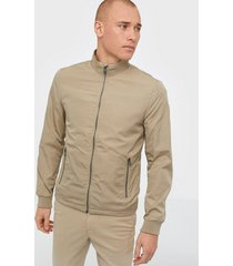 selected homme slhzip jacket b jackor ljus grå
