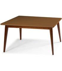 mesa de madeira 180x90 cm novita 609-3 cacau/marrom médio - maxima